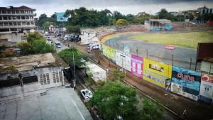 Stadio di Arusha. Vista dall'albergo