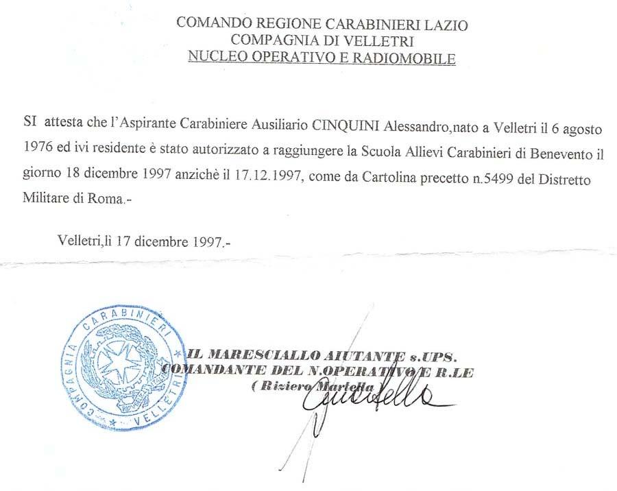 la lettera di autorizzazione